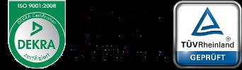 ISO9001 Logo und Tüv