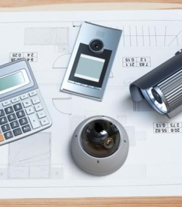 Progetti edilizi o disegni con metrature e accessori, videosorveglianza